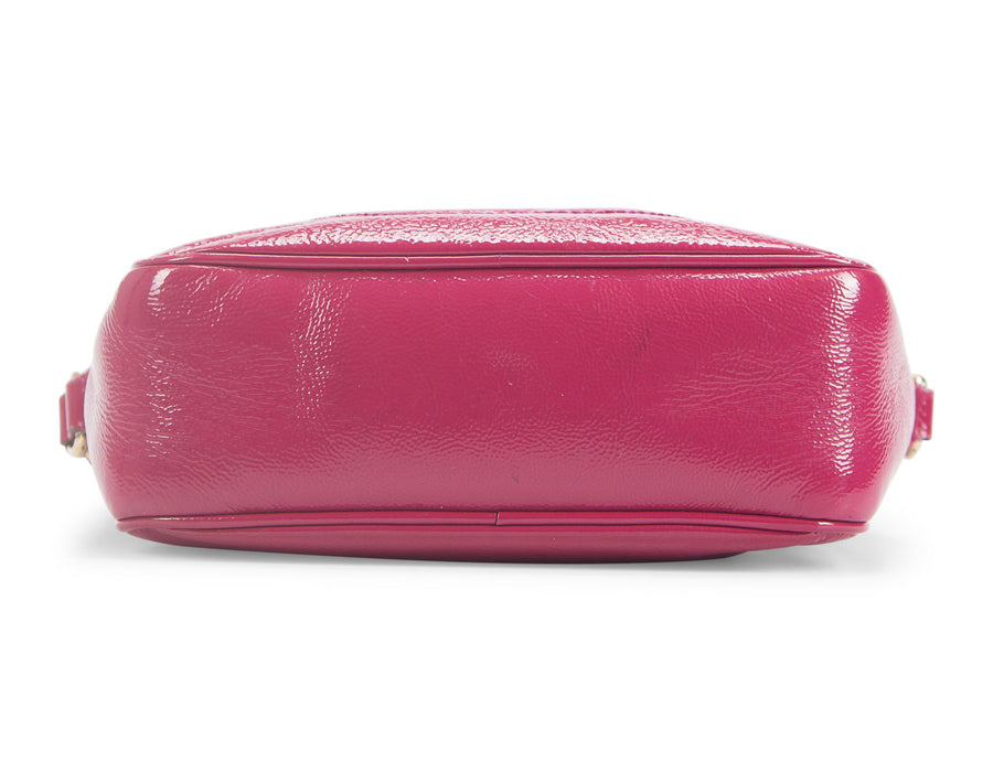 Gucci Magenta Patent Leather Soho Disco Crossbody Bag
