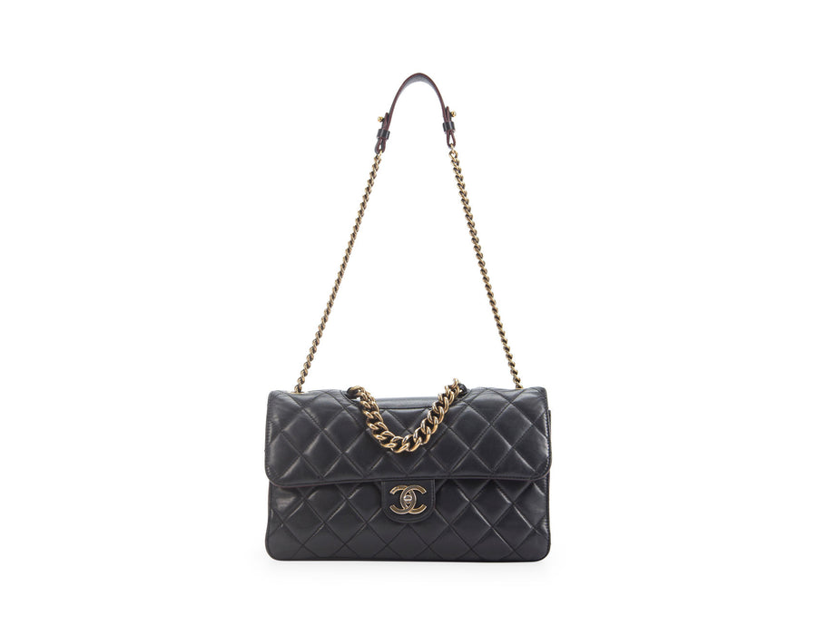 Chanel Black Lambskin Large Perfect Edge Bag