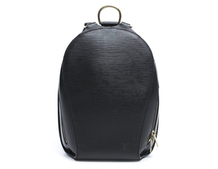 Louis Vuitton Black Epi Leather Mabillon Backpack