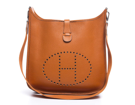 Hermes Orange Epsom Evelyne II PM Bag