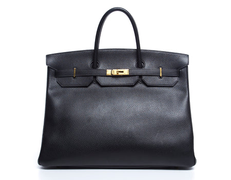 Hermes Black Togo Leather Birkin 40cm Bag GHW