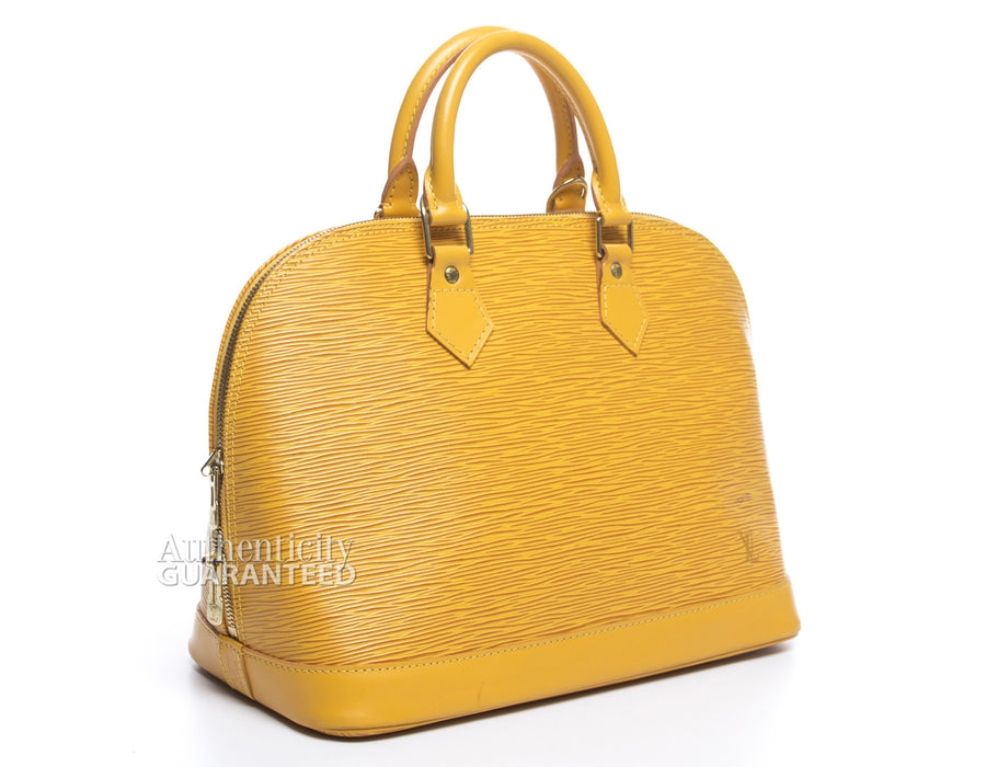 Louis Vuitton Tassil Yellow Epi Leather Alma PM Bag