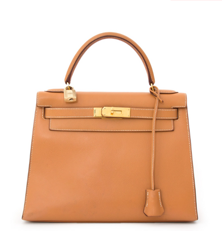 077ae70d3106 Hermes Gold Courchevel Leather Kelly 28 Bag