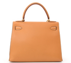 Hermes Gold Courchevel Leather Kelly 28 Bag