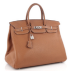 Hermes Gold Clemence Leather Birkin 40cm Bag PHW