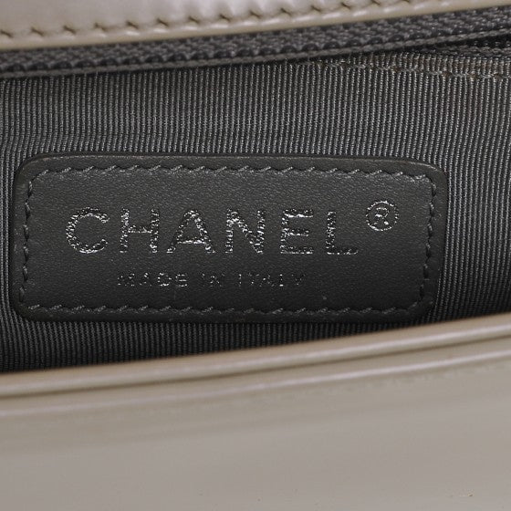 Chanel Irridescent Calfskin Ivory/Pearl Small Boy Bag