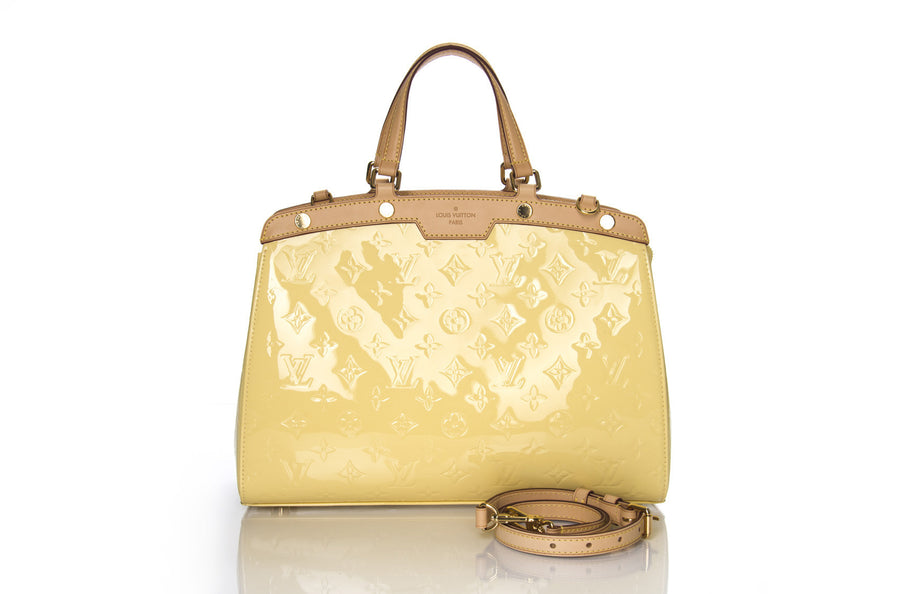 Louis Vuitton Citrine Monogram Vernis Brea MM Bag