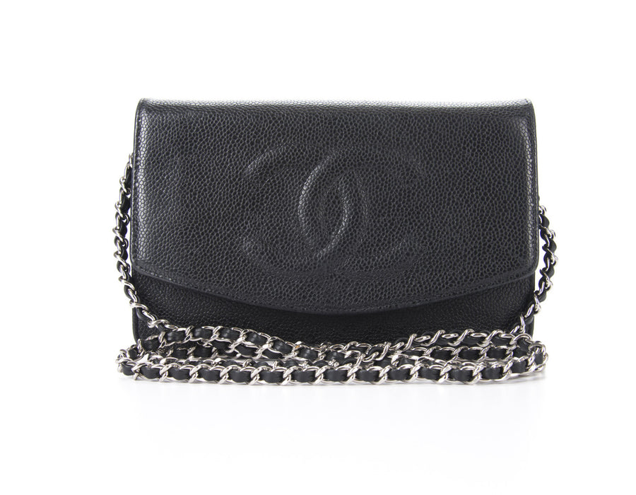 Chanel Black Caviar CC Envelope WOC Wallet On Chain