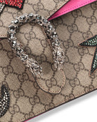 Gucci Dionysus GG Supreme Sequin-Embroidered Pierced Heart Bag