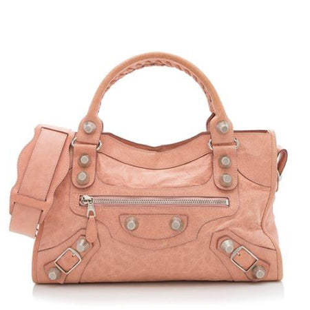 Balenciaga Rose Peche City Giant Hardware 21 Bag