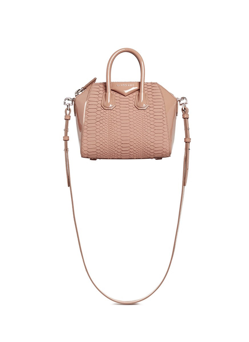 Givenchy Blush Python Mini Antigona Bag