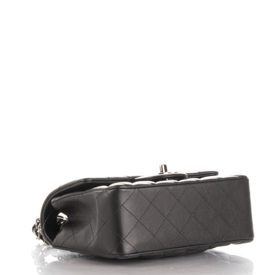 Chanel Black Lambskin Rectangle Mini Flap Bag