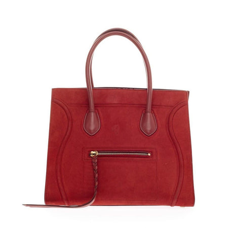 Celine Red Nubuck Leather Phantom Bag