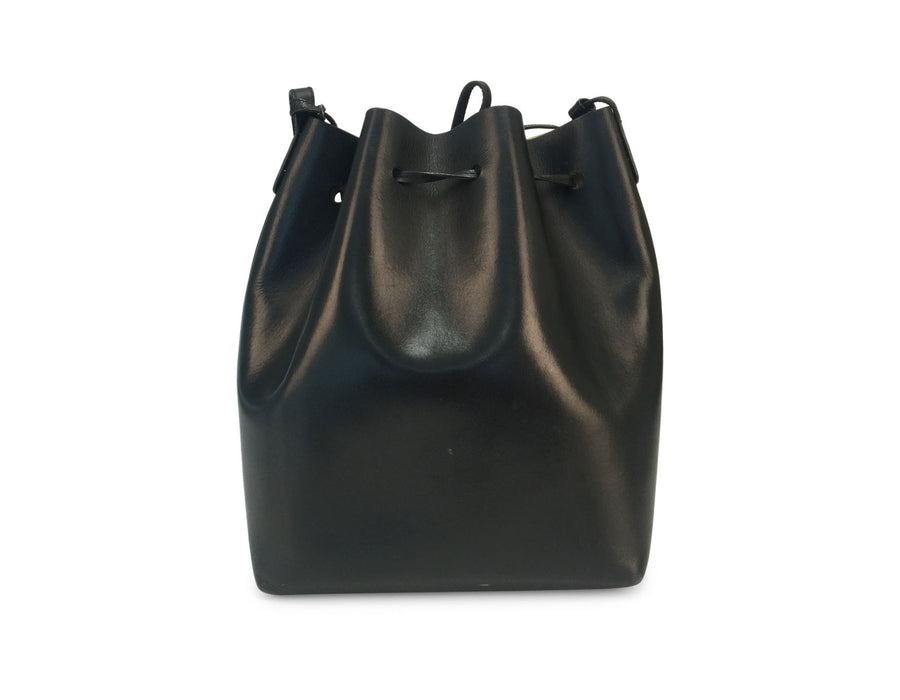 Mansur Gavriel Large Black Saffiano Bucket Bag