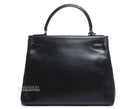 Hermes Black Box Calf Retourne Kelly 28cm Bag w Strap
