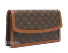 Louis Vuitton Monogram Canvas Dame PM Clutch
