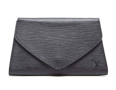 Louis Vuitton Black Epi Art Deco Clutch