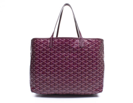 Goyard Burgundy Monogram Coated Linen Saint Louis GM Bag