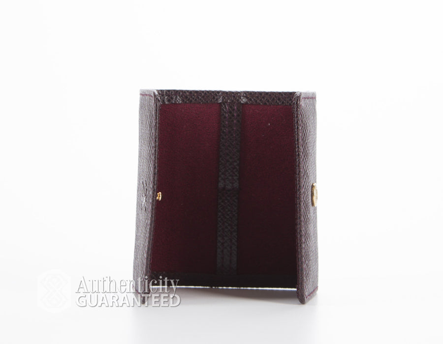 Louis Vuitton Acajou Taiga Leather CuffLinks Case