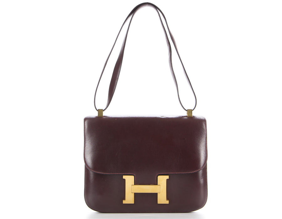 Hermes Rouge H Boxcalf Constance 23cm Bag