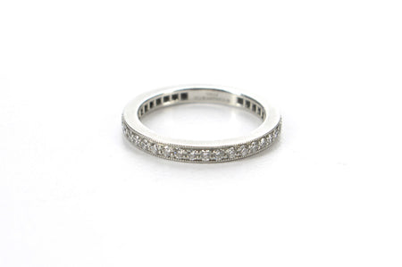 Tiffany & Co. Platinum Diamond Band 2mm Sz 6