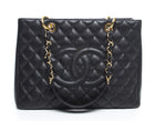 Chanel Black Caviar Grand Shopping Tote GST Bag GHW