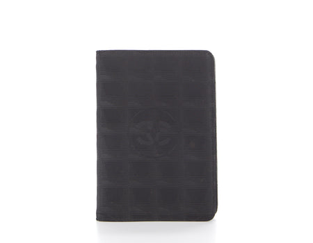 Chanel Black Nylon Travel Ligne Agenda Cover