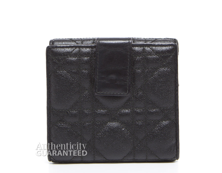 Christian Dior Black Canvas Bifold Wallet