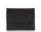 Louis Vuitton Black Epi Leather Card Case