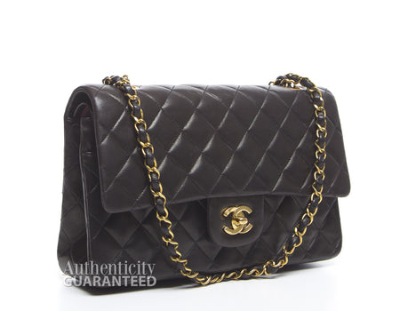 Chanel Black Lambskin Medium Double Flap Bag GHW