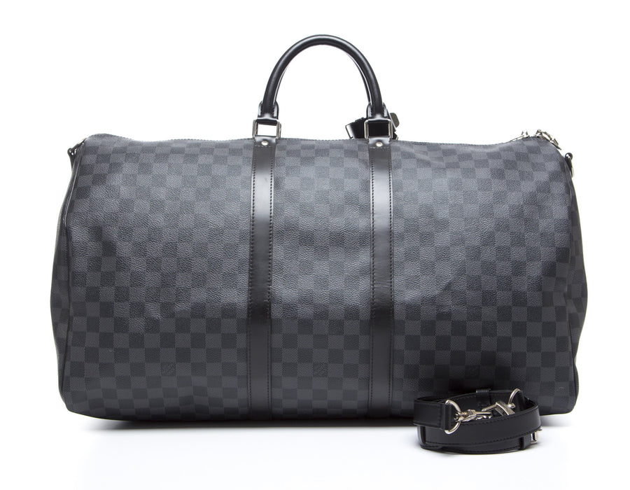 Louis Vuitton Damier Graphite Keepall Bandouliere 55 Bag