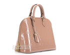 Louis Vuitton Vernis Rose Velours Alma PM Bag