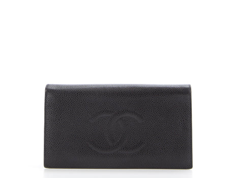 Chanel Black Caviar CC Bifold Wallet