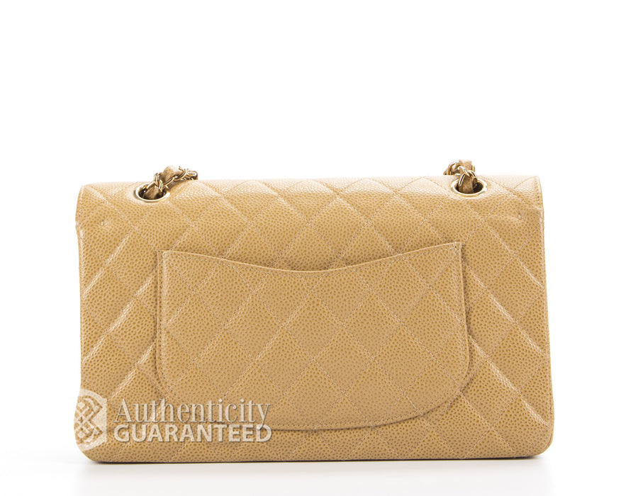 Chanel Beige Caviar Medium Double Flap Bag