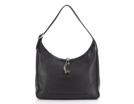 Hermes Black Courchevel Trim 31 Hobo Bag