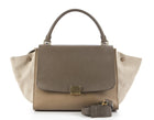 Celine TriColor Leather and Canvas Trapeze Bag