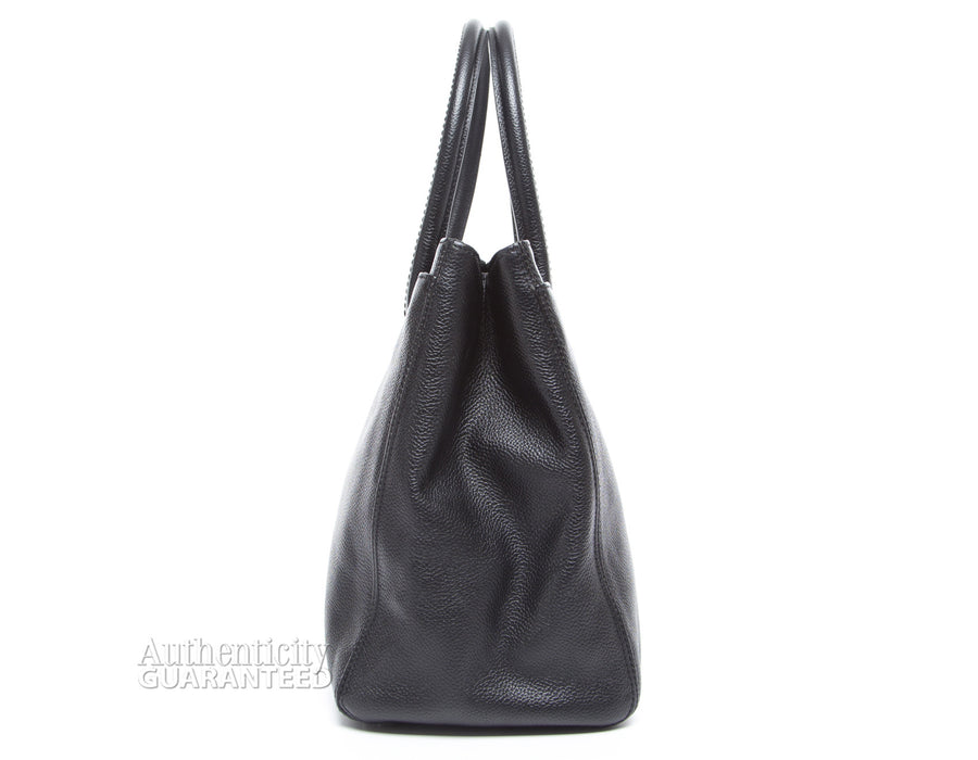 Chanel Black Calfskin East West Reissue Cerf Tote Bag
