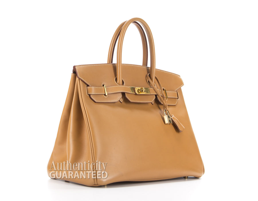 Hermes Gold Vasche Natural Birkin 35cm Bag