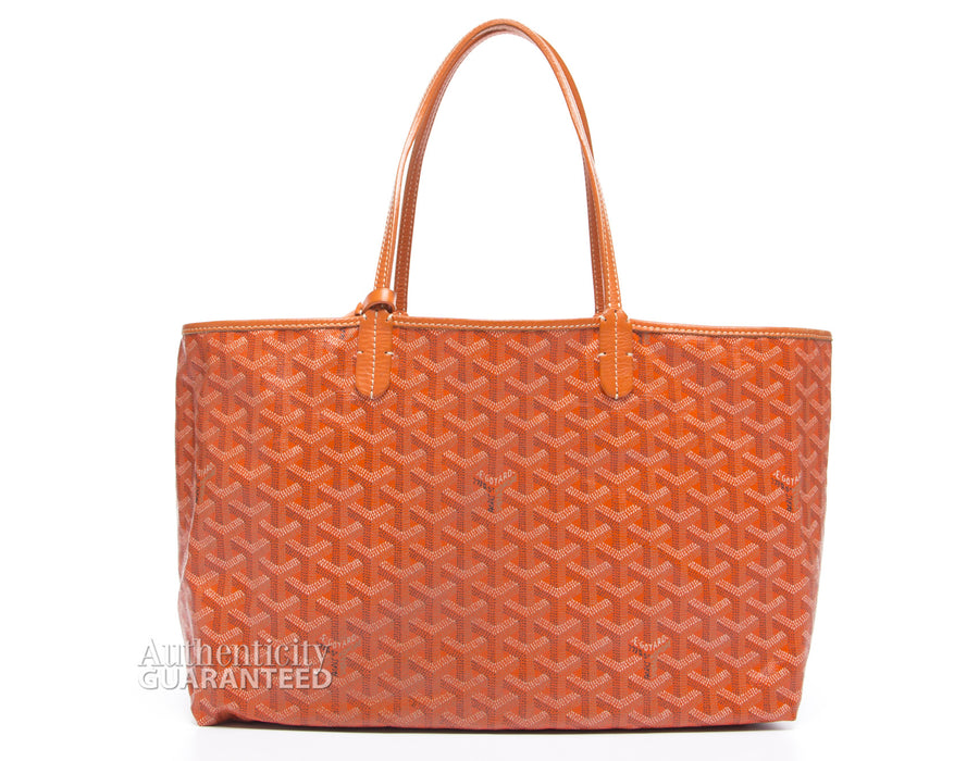 Goyard Orange Monogram Coated Linen Saint Louis PM Bag