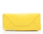 Celine Yellow and White Leather Bi Cabas Tote Bag