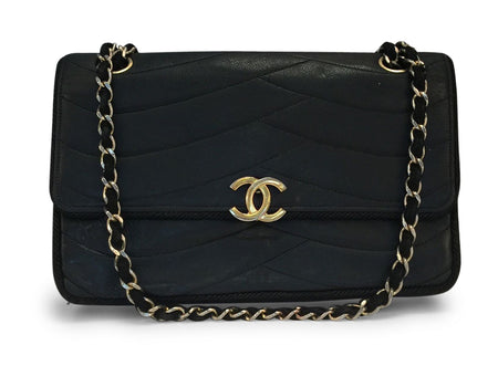 Chanel Grosgrain Trimmed Vintage Leather Flap Bag
