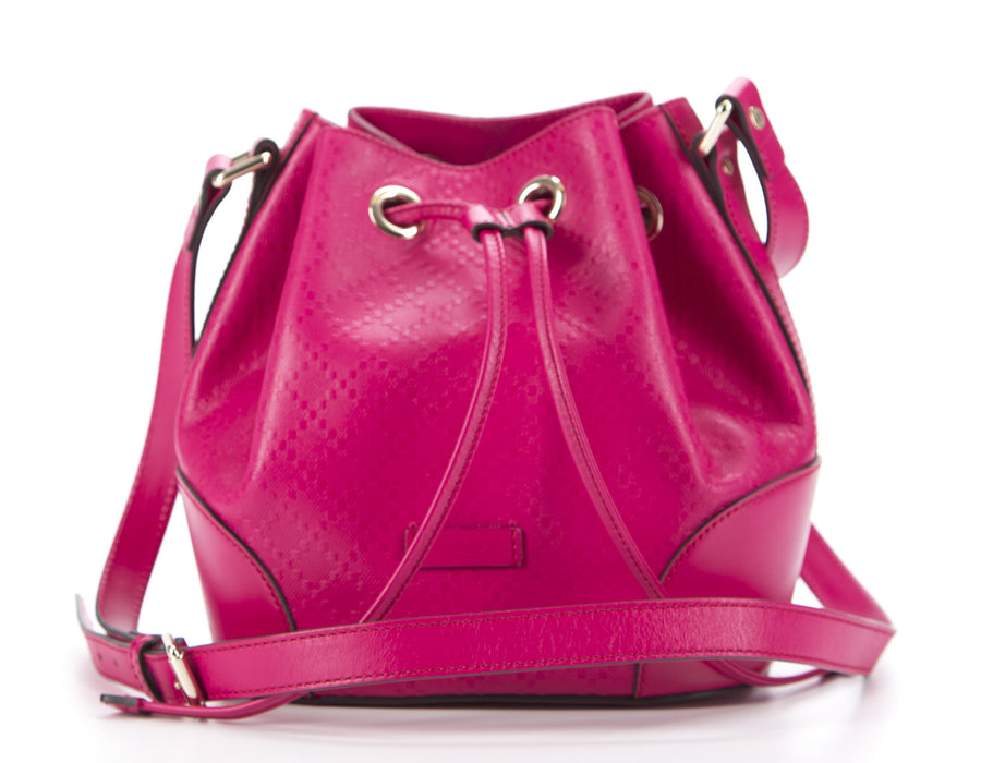 Gucci Raspberry Diamante Hilary Lux Bucket Bag