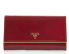 Prada Red Patent Leather Continental Wallet