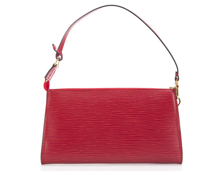 Louis Vuitton Red Epi Pochette Accessories Bag