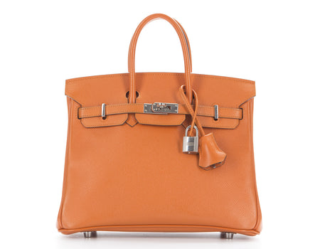 Hermes Orange Epsom Birkin 25cm Bag