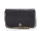 Chanel Black Lambskin Full Single Flap Shoulder Bag GHW