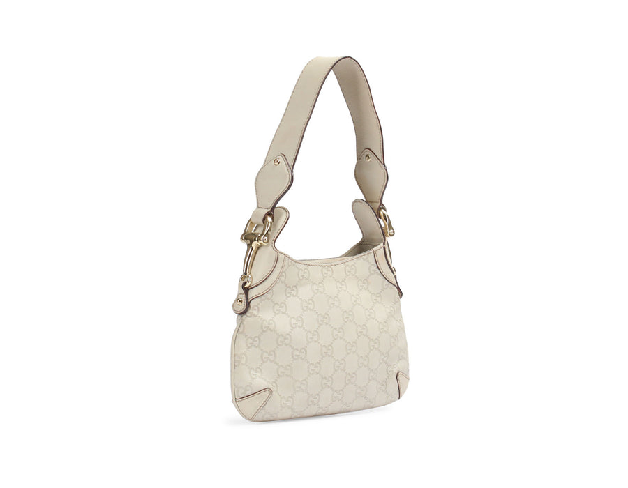 Gucci Ivory Guccissima Mini Hobo Bag