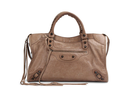 Balenciaga Taupe Chevre Leather City Bag