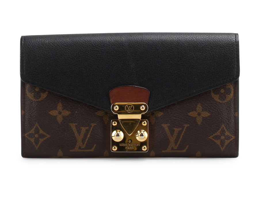 Louis Vuitton Noir Monogram Pallas Wallet