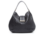 Gucci Black Guccissima New Ladies Large Hobo Bag